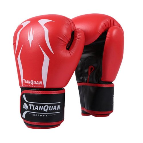 Boxing - Kickboxing Glove Full Finger Gloves -MMA 2 ---- Red