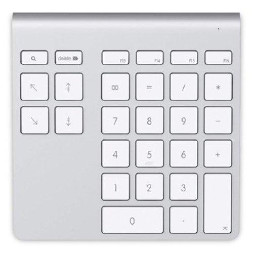 Belkin YourType PC/server Bluetooth Aluminium,White numeric keypad