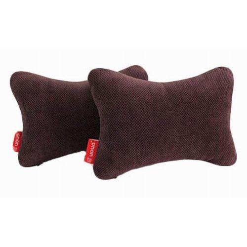 Auto Supplies A Pair of Car Headrest Soft Neck Pillow, Brown