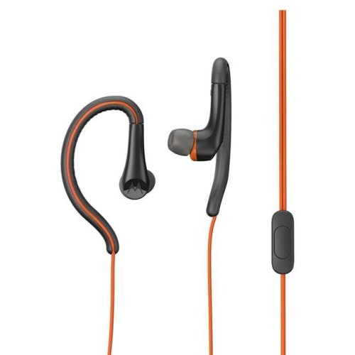 Motorola MO-SH008FL 3.5 mm Hands Free Earbuds Sport Water Resistant IPX4 with Remote & Mic Flame - Orange