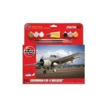 Air55214 - Airfix Medium Starter Set - 1:72 - Grumman F4f-4 Wildcat