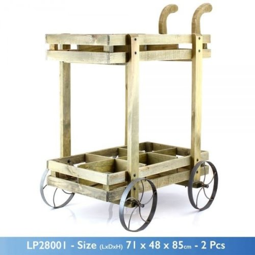 Classic Country Garden Plant Flower Planter Trolley