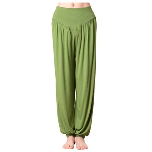 Solid Modal Cotton Soft Yoga Sports Dance Fitness Trousers Harem Pants, I