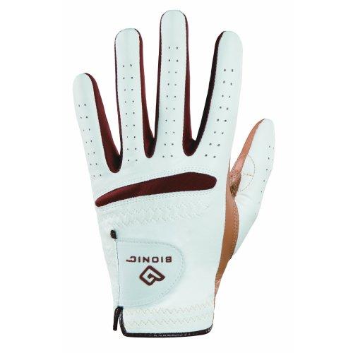 Bionic Women's RelaxGrip Left Hand Golf Glove, White/Caramel, Medium