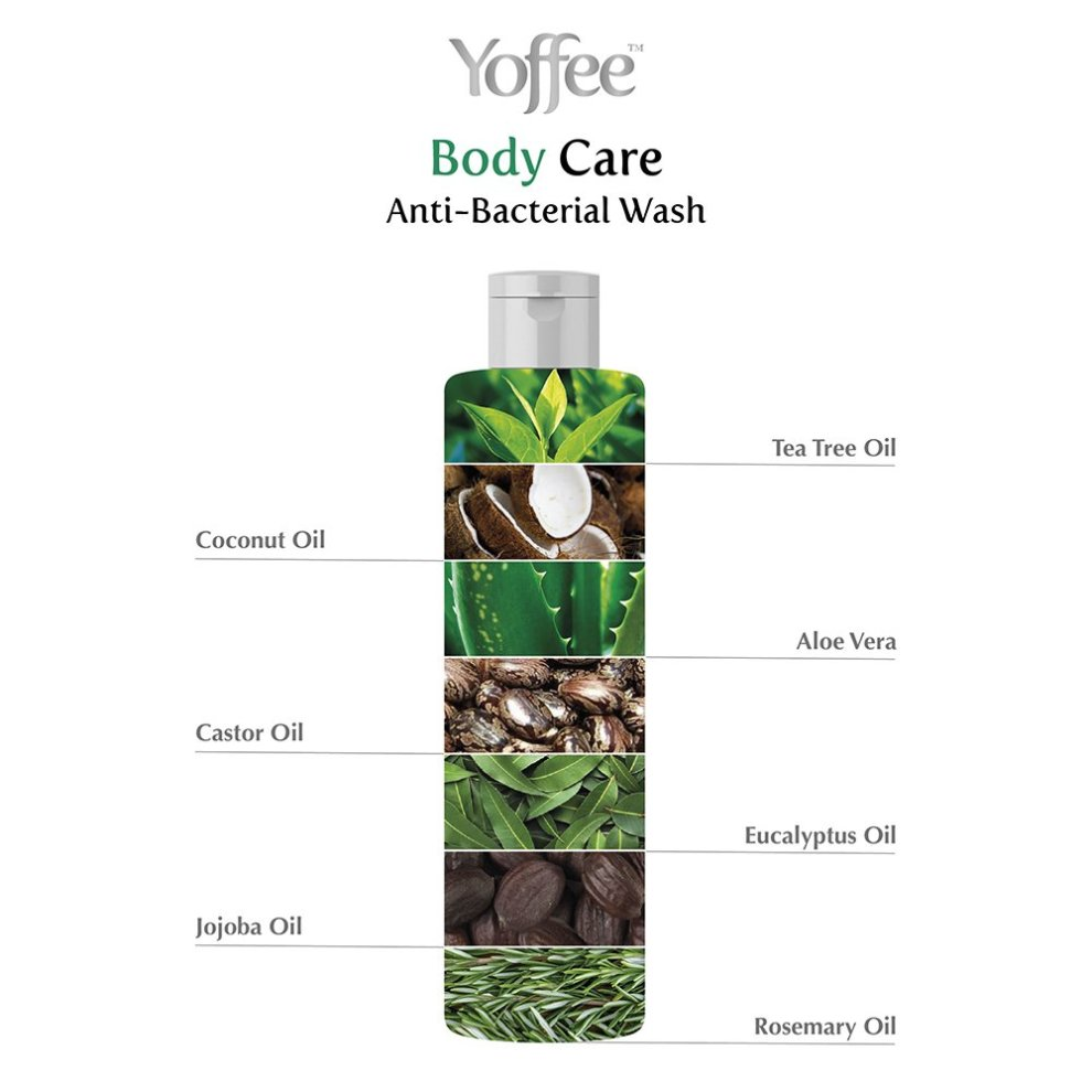 Yoffee Antibacterial Wash For Body & Foot - Tea Tree Oil & Eucalyptus Oil  Antifungal Wash Helps Relieve Eczema, Ringworm, Athletes Foot, Jock itch,
