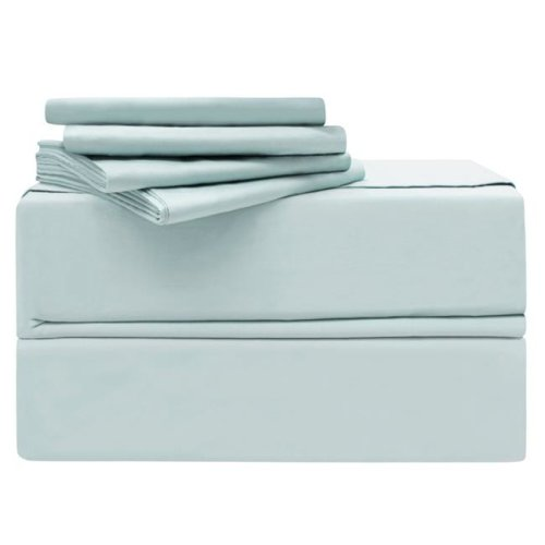 Simply the Best YMS008202 Luxury 620 Thread Count 100 Percent Cotton Sheet Set, Spa Blue - California King - 6 Piece