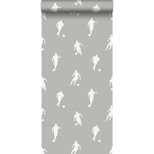 ESTAhome 128801 Football Players Wallpaper - Taupe