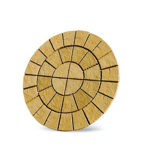 Patio Circle Kit Cathedral Paving 1.8m Barley