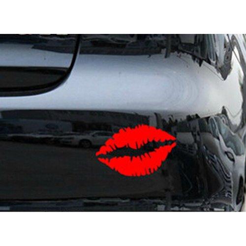 "Kiss Mark Lips Car Decal / Sticker RED 15.7"""