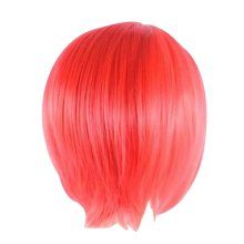 Cosplay Short Straight  Wig for Lolita Halloween Anime Fans [Red]