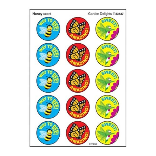 Trend Enterprises Garden Delights/Honey Stinky Stickers (60 Piece)
