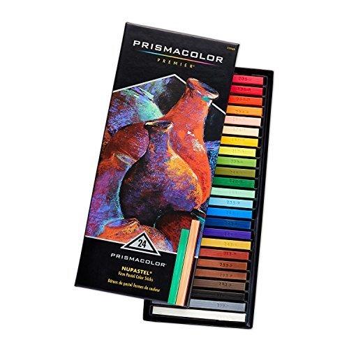Prismacolor 27049 Premier NuPastel Firm Pastel Color Sticks 24 Count