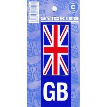 Union Jack/gb No Plate Sticker - Vinyl Jack Gb Number Castle Outdoor Promotions -  sticker vinyl union jack gb number plate castle outdoor promotions