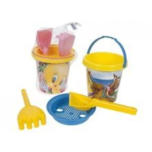 Tweety Pie & Scooby Doo Bucket & Spade Set -  tweety pie scooby doo bucket spade set