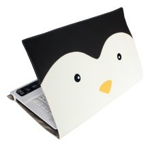 [Penguin] Lovely Canvas Laptop Sleeve Notebook Computer Case Laptop Bag