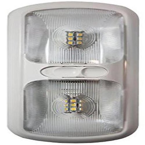 Arcon ARC-20712 Double LED Euro Light with Optical Lens, Soft White