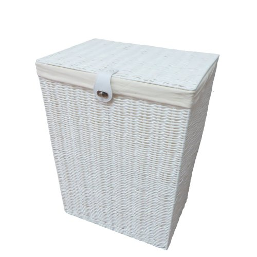 Laundry Basket Resin White 85 liters with Lid and Lock