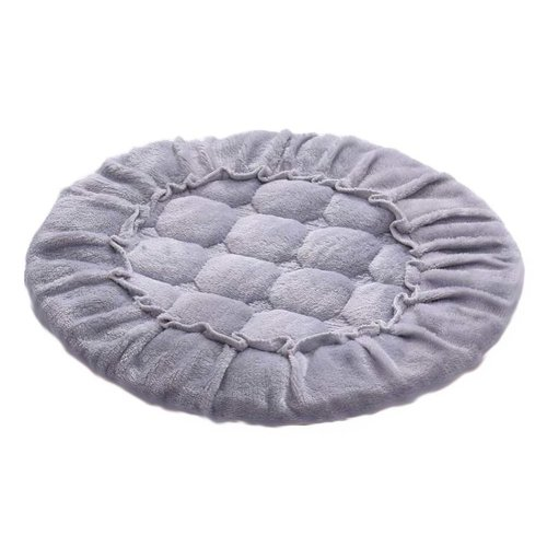[N] Soft Flannel Round Stool Cover Bar Stool Seat Pad