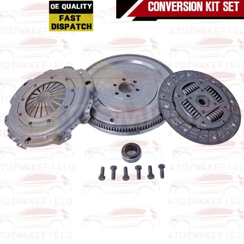 FOR PEUGEOT 1007 1.6 HDI DUAL MASS SOLID FLYWHEEL CLUTCH KIT 110 BHP DV6TED4