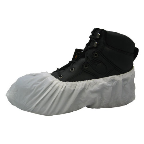 WHITE DISPOSABLE SHOE COVERS OVERSHOES 500PK HYGIENIC