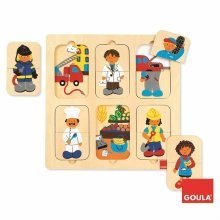 Goula Jobs Wooden Puzzle (12 Pieces)