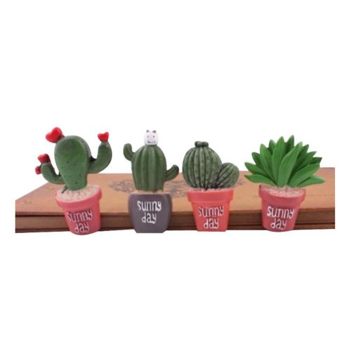 4Pcs Cactus Plant Pattern Pushpins Lovely Drawing Pin For School Or Office