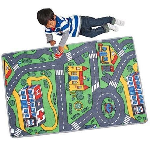Kids Car Road City Town Play Mat