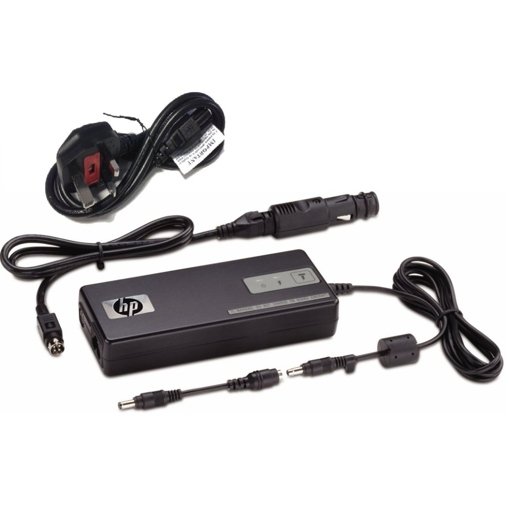 HP 90W Smart AC Auto Air Power Adapter Laptop Charger AJ652AA Car UK On OnBuy