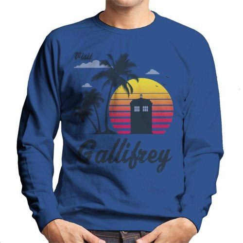 Retro Visit Gallifrey Doctor Who Men's Sweatshirt