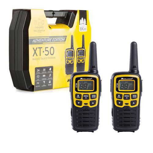 Portable PMR radio station Midland XT50 ADVENTURE set with 2 pcs. yellow code C1178.01
