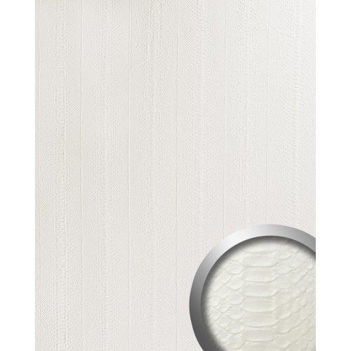 WallFace 15043 SNAKE Wall panel leather wall decor self-adhesive white 2.60 sqm