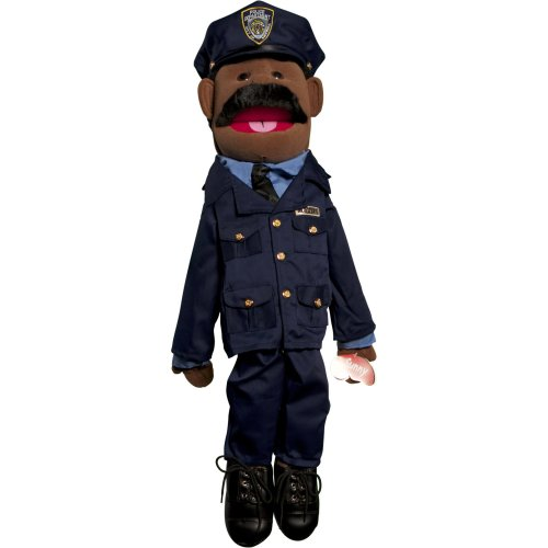 Sunny Toys GS4308B 28 In. Ethnic Dad Policeman, Full Body Puppet