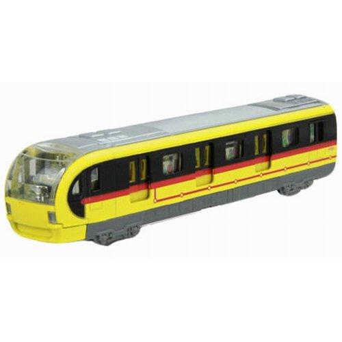 Simulation Locomotive Toy Model Trains Toy Subway, Yellow (18.5*4.5*3.5CM)