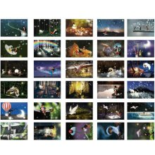 30 PCS 1 Set Beautiful Luminous Greeting Postcards Blessing Cards, No.11