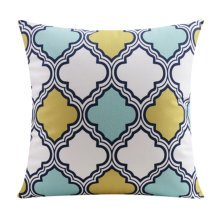 Oriental Style Comfortable Throw Pillow Soft Pillow Back Cushion, C