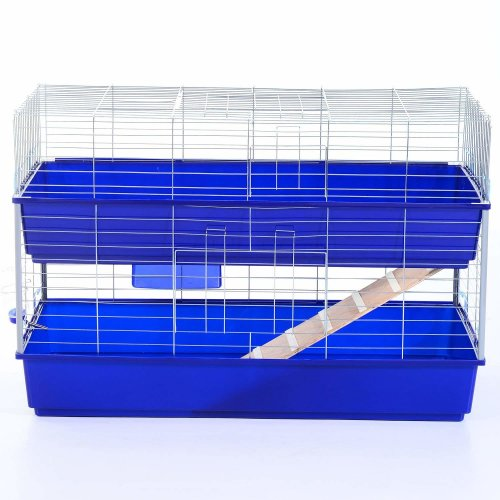PawHut Large 2-Tier Pet Cage | Double Small Pet House