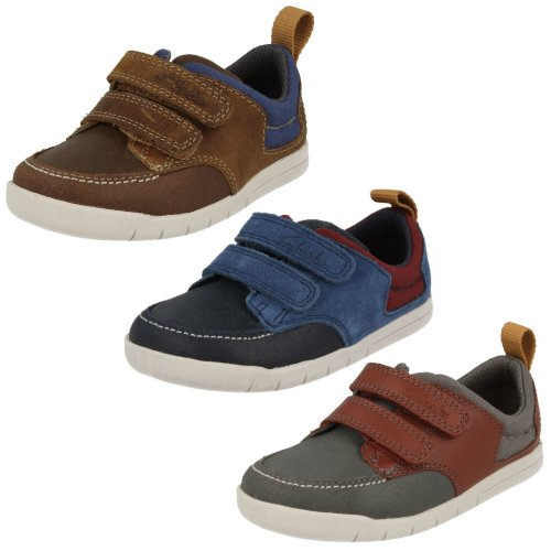 Infant Boys Clarks First Casual Shoes Crazy Jay - G Fit