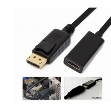PC HP DELL HD TV DP Displayport M to HDMI F Converter Adapter Cable