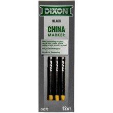 Dixon Phano China Markers 12/Pkg-Black