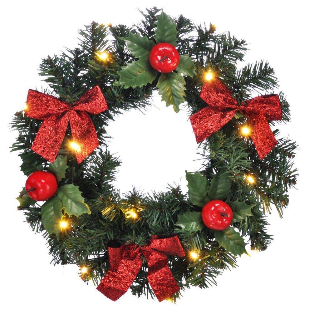 Christmas Wreath With Lights.Led Christmas Door Wreath Festive Wreath With Lights