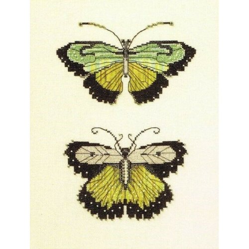 Butterflies of The Meadow Counted Cross Stitch Chart Pattern 2 Designs