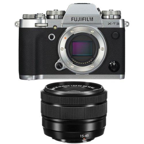 FUJI X-T3 Silver + XC 15-45MM F3.5-5.6 OIS PZ Black