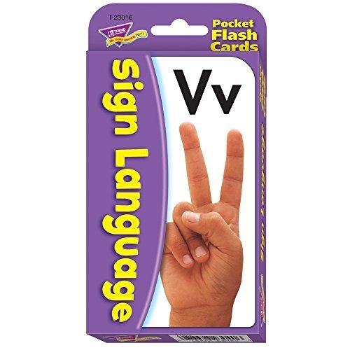 Sign Language Pocket Flash Cards