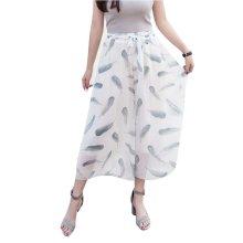 Stylish Printing Design Loose Fitting Pants Wide Leg Trousers Slacks for Women, #07