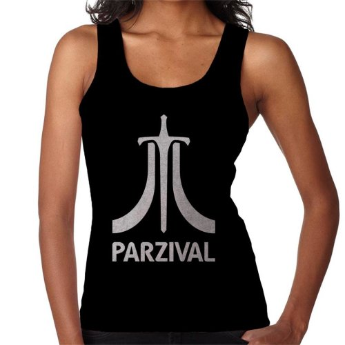 Parzival Atari Inspired White Text Women's Vest