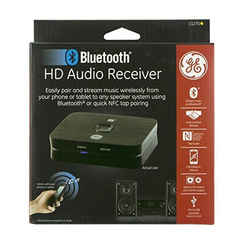 GE 11270 HD Audio Bluetooth Receiver with NFC