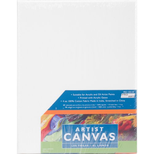 """Pro Art Stretched Artist Canvas Twin Pack 2/Pkg-8""""X10"""""""