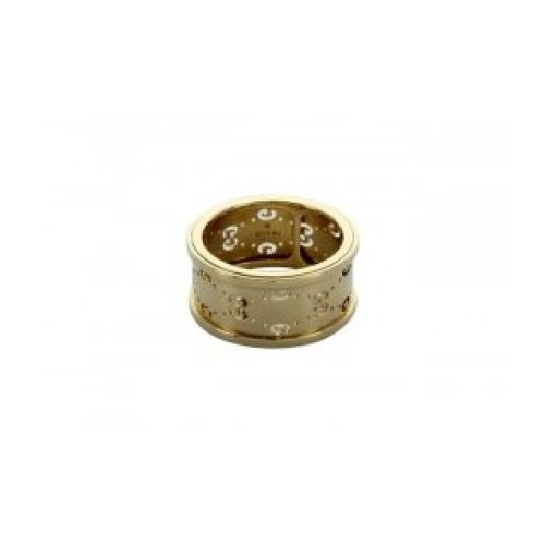 GUCCI RING ICON TWIRL GG 18KT YELLOW GOLD MEASURES 12 201985 J8500 8000
