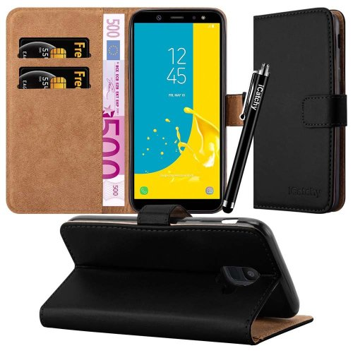 For Samsung Galaxy J6 2018 Wallet Case with Stylus