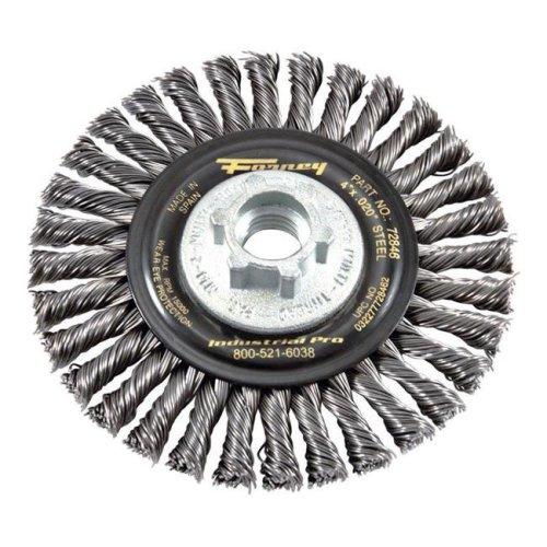 Forney Industries 2407252 4 in. Stringer Wire Wheel Brush, Steel - 15000 rpm